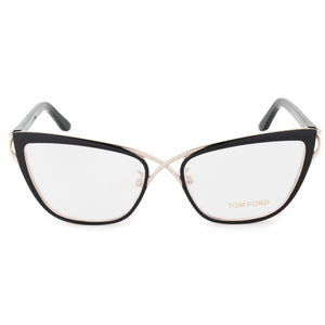 Tom Ford FT5272 005 Cateye Eyeglasses Frame | Black/Gold | Size 53mm