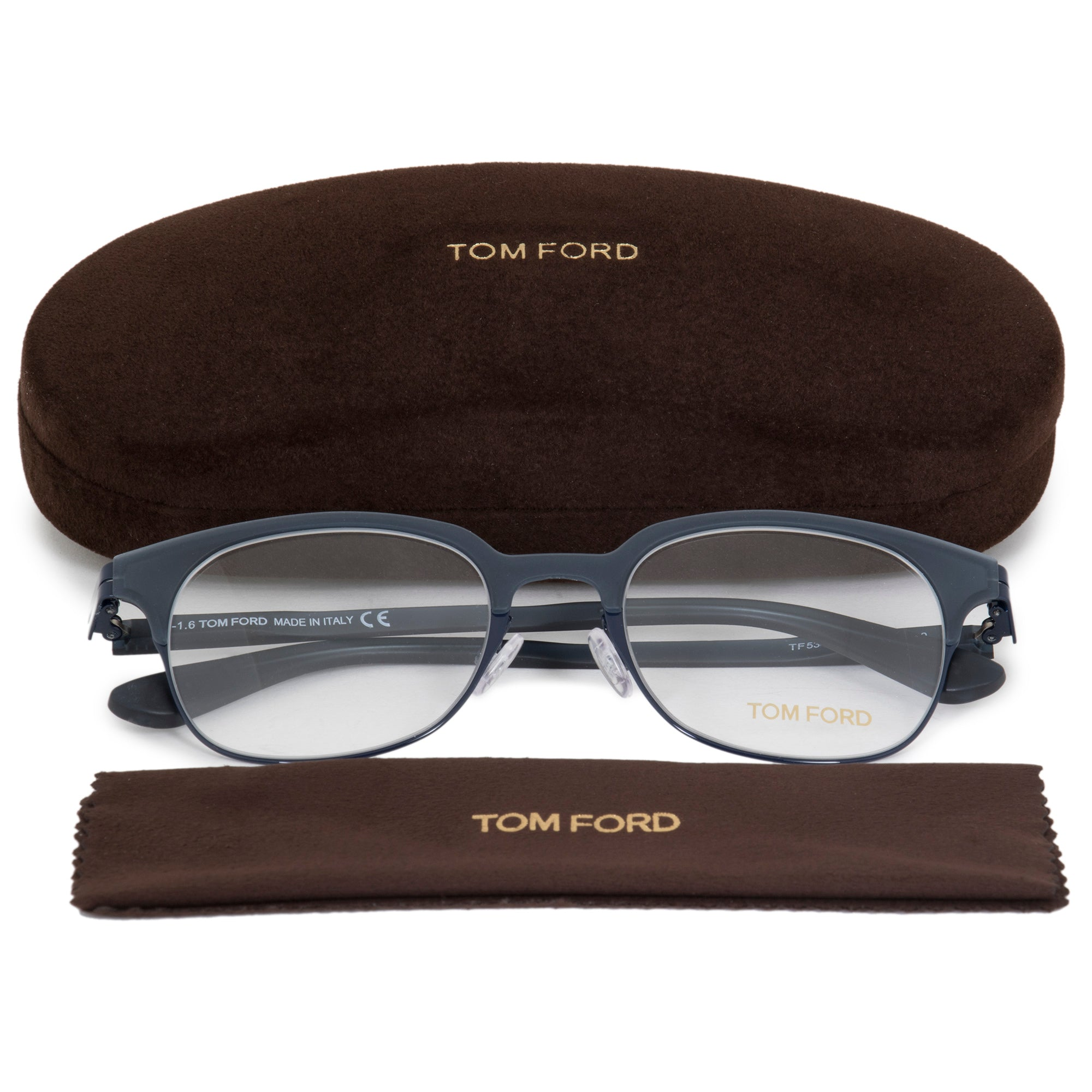 Tom Ford FT5347 Square | Matte Grey| Eyeglass Frames