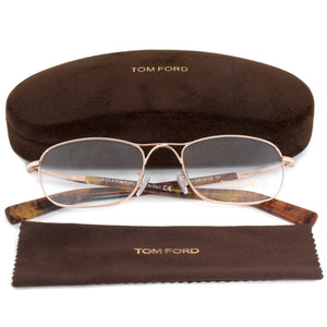 Tom Ford FT5366 28 Rectangular | Rose Gold | Eyeglass Frames
