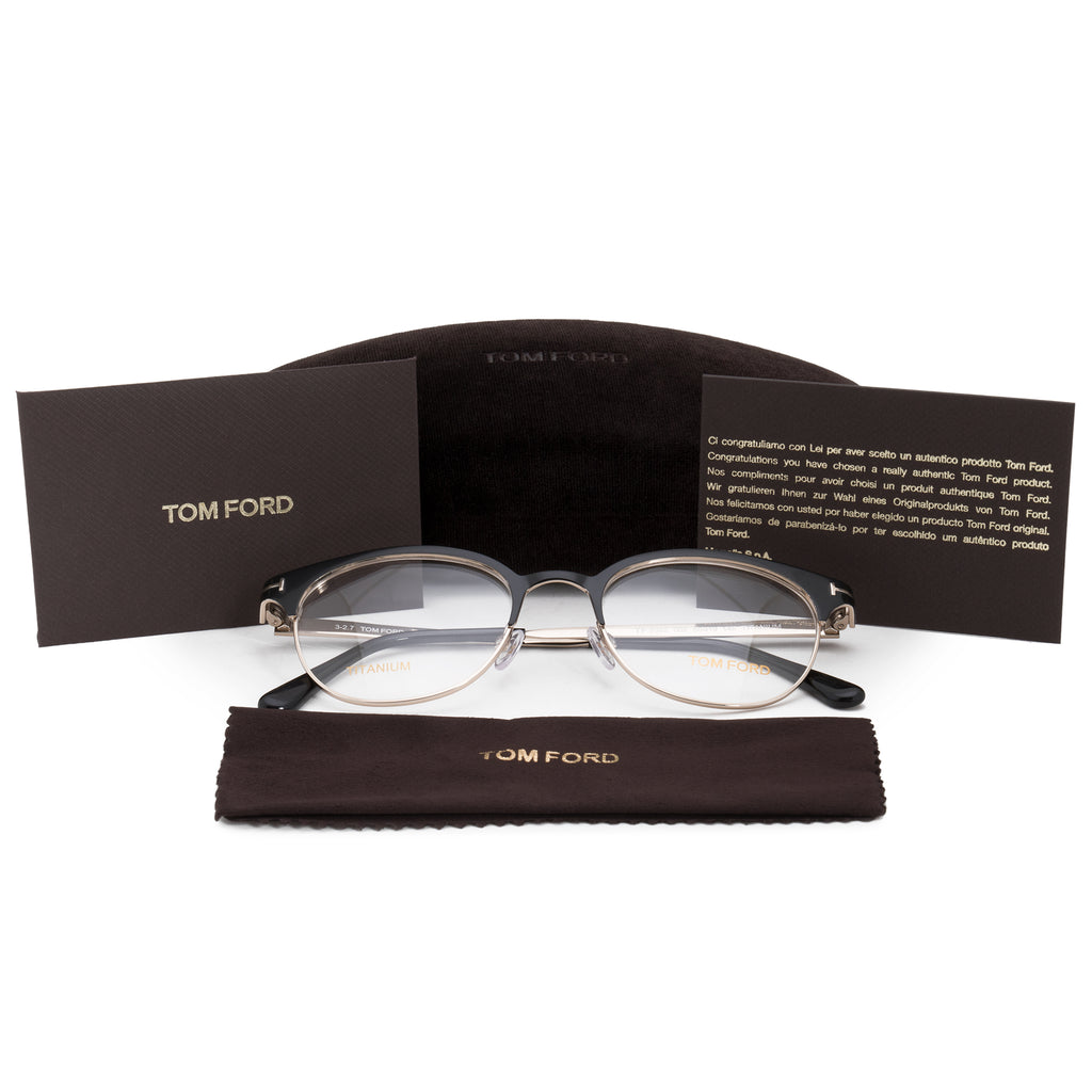 Tom Ford FT5382 5 Round | Black| Eyeglass Frames