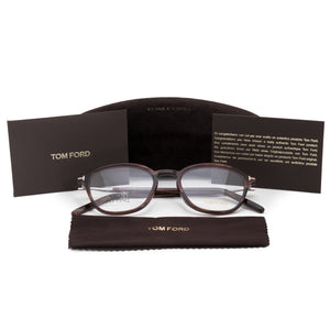 Tom Ford FT5397 Square | Burgundy Horn | Eyeglass Frames