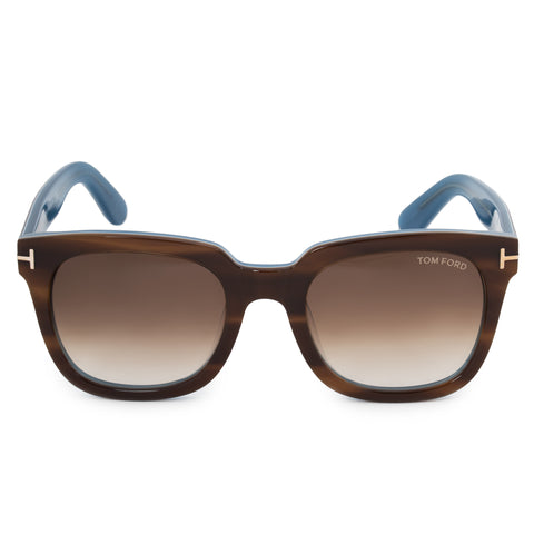 Tom Ford Square Sunglasses FT0211 47F 53