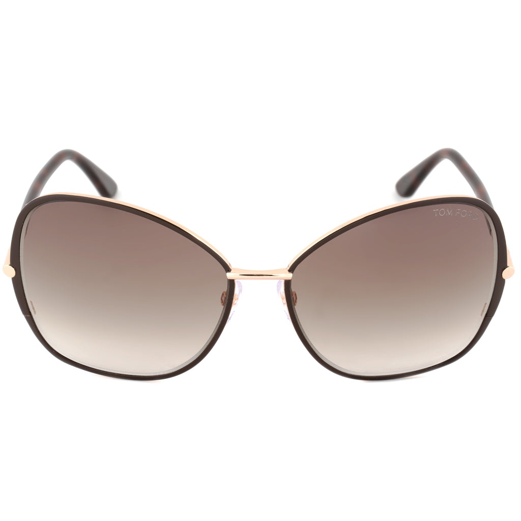 Tom Ford Solange Sunglasses FT0319 28F | Rose Gold/Brown Frame | Brown Gradient Lens