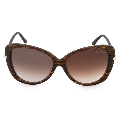 Tom Ford Linda Butterfly Sunglasses FT0324 50F 59