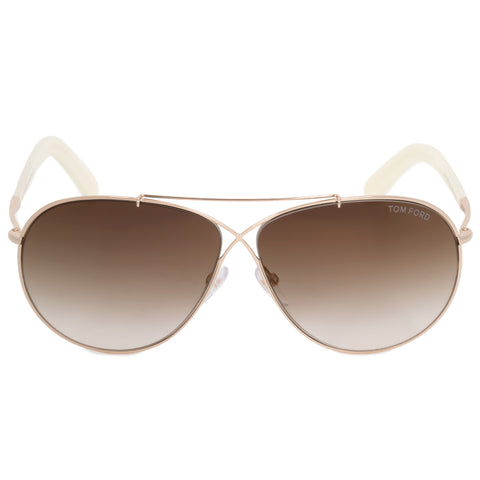 Tom Ford Eva Pilot Sunglasses FT0374 28G 61