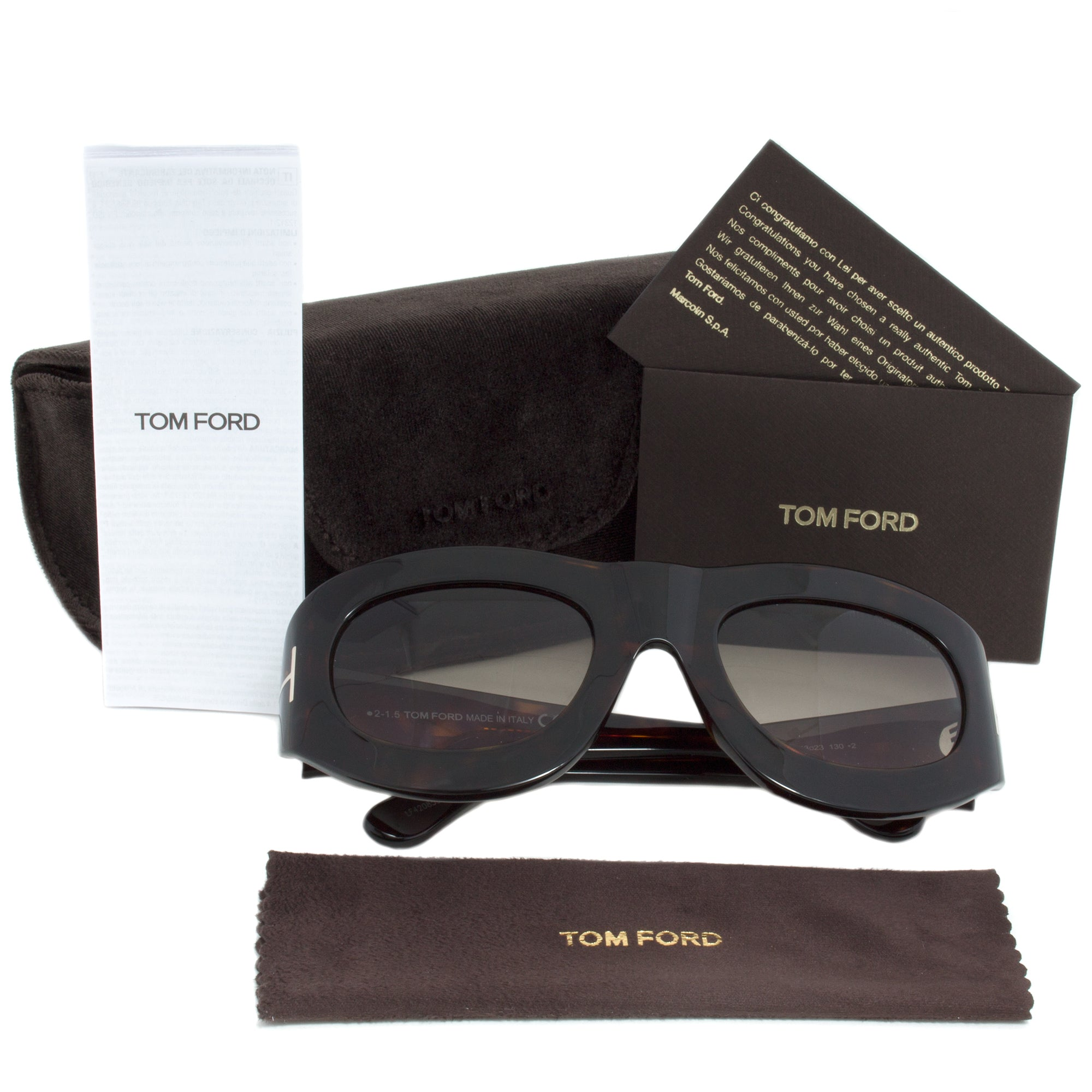 Tom Ford FT0403 Mila Oval Sunglasses | Grey Gradient Lens