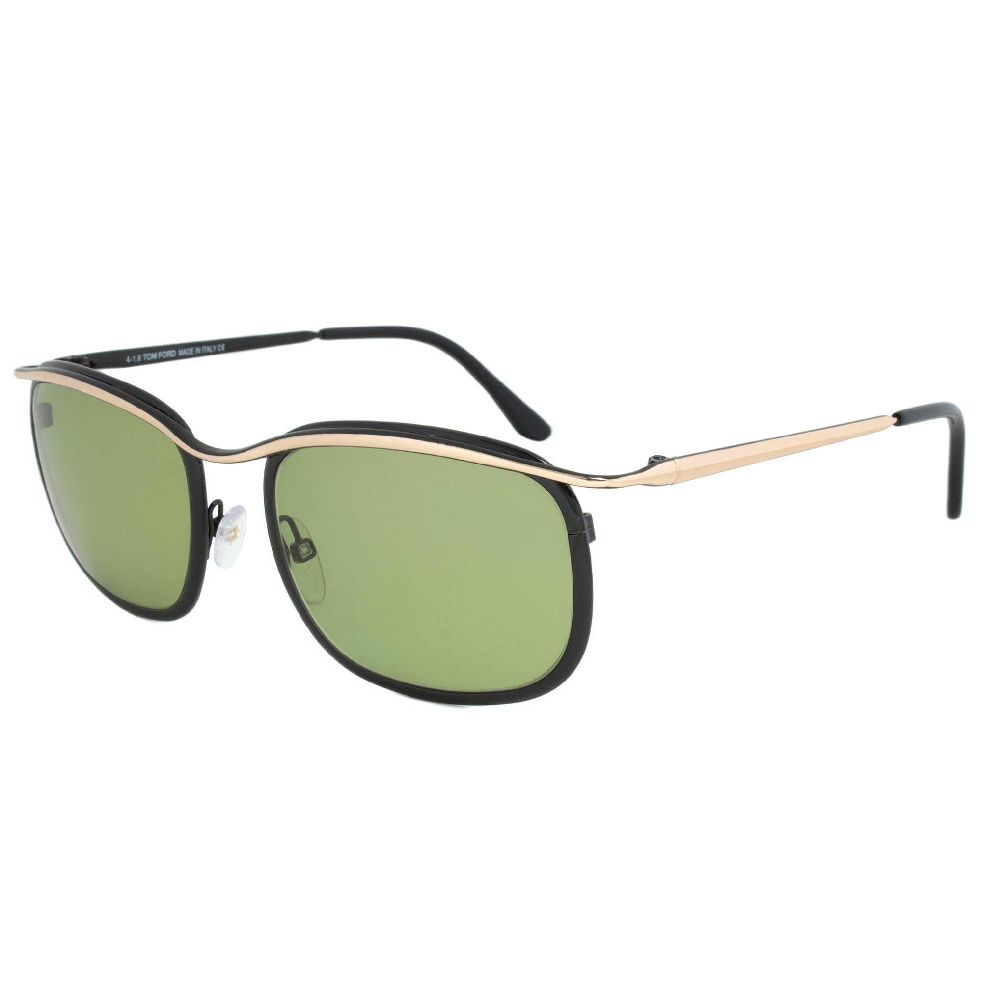 Tom Ford FT0419 Marcello Rectangular Sunglasses | Green Lens