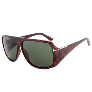 Tom Ford Harley Sunglasses | Dark Havana | Green Lens