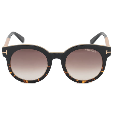 Tom Ford Janina Round Sunglasses FT0435 01K 51