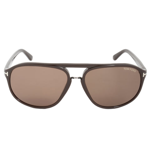 Tom Ford Jacob Sunglasses FT0447 49J | Brown Frame | Roviex Lens