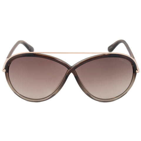 Tom Ford Tamara Oval Sunglasses FT0454 38F 64 | Multicolored Brown Frame | Brown Gradient Lenses