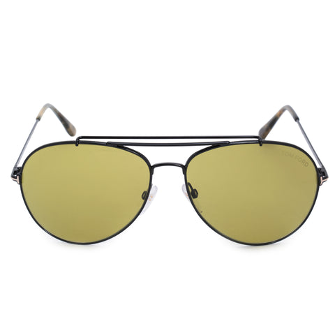 Tom Ford Indiana Aviator Sunglasses FT0497 01N 60