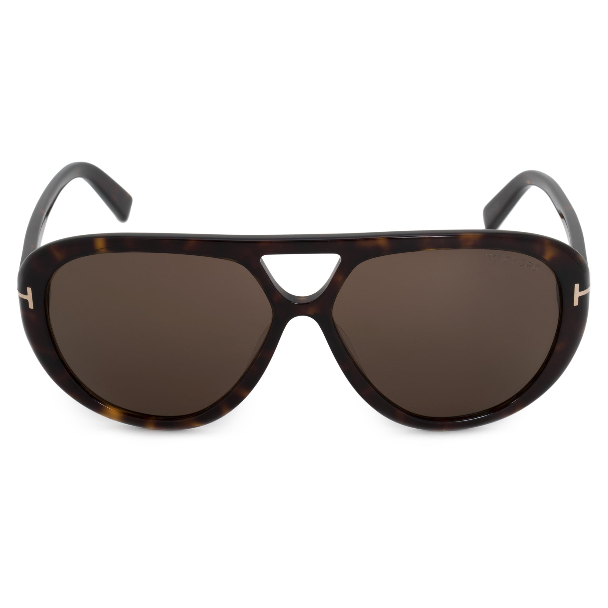 Tom Ford Marley Aviator Sunglasses FT0510 | Havana Acetate Frames | Brown Lenses