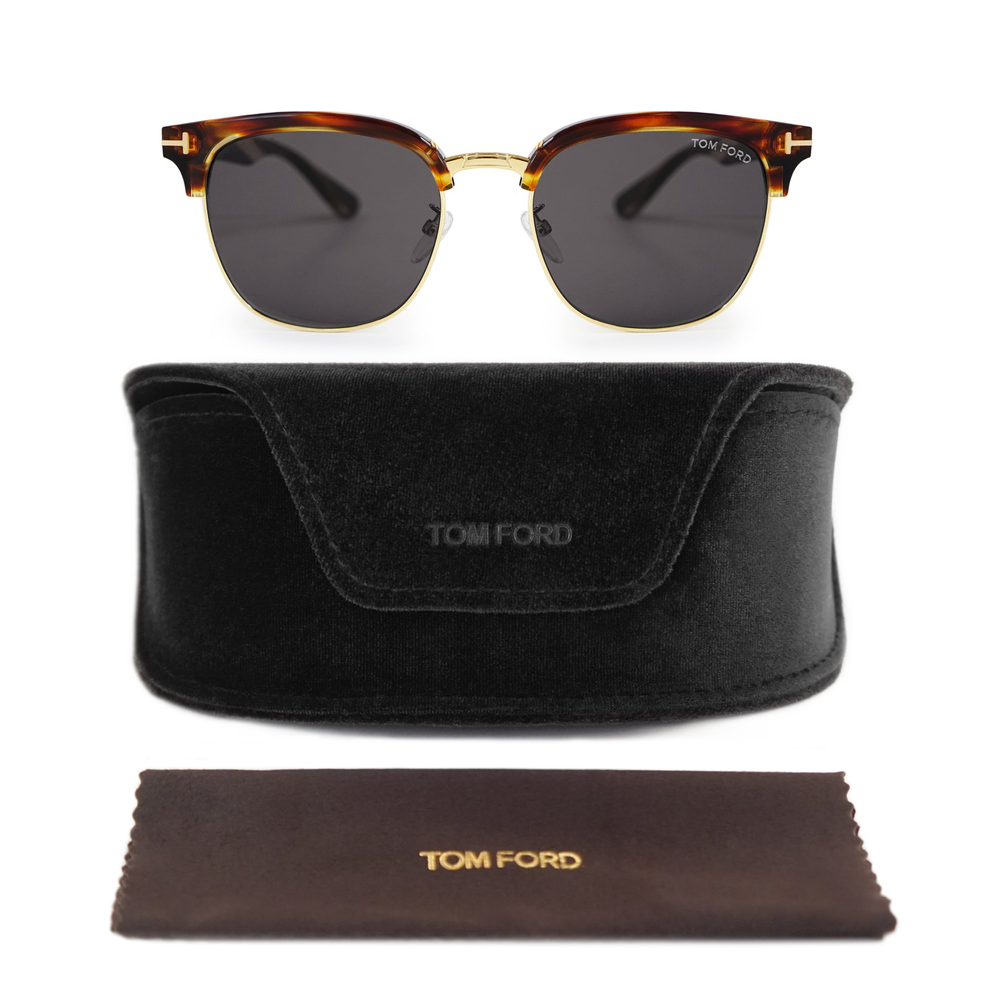 Tom Ford Asian Fit Havana Oval Sunglasses FT0544-K 50A