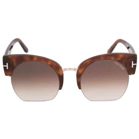 Tom Ford Savannah-02 Semi-Rimless Sunglasses FT0552 F 53F 55