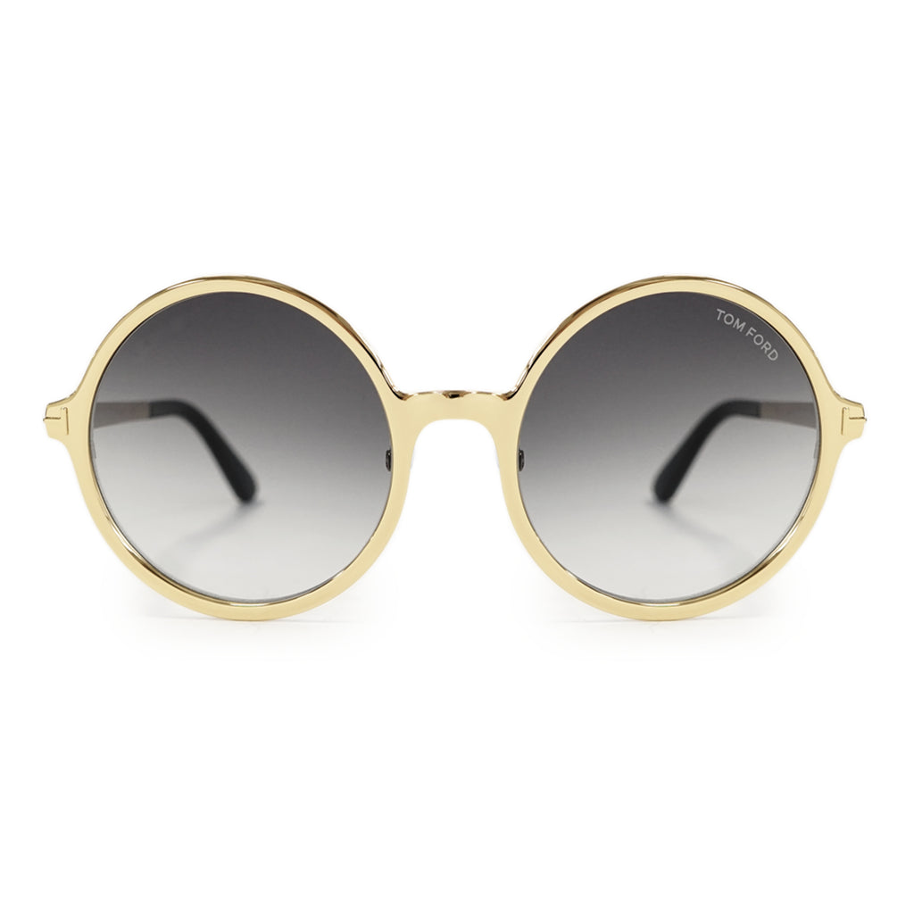 Tom Ford Ava-02 Round Sunglasses Gold FT0572 28B