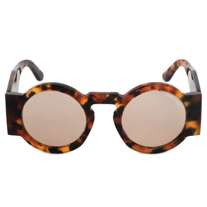 Tom Ford Tatiana Round Sunglasses FT0603 | Havana Frame | Brown Lenses
