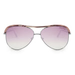 Tom Ford Sabine Pink Havana Aviator Sunglasses FT0606 16Z