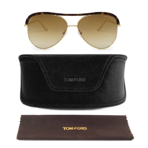 Tom Ford Sabine Tortoise Aviator Sunglasses FT0606 28G