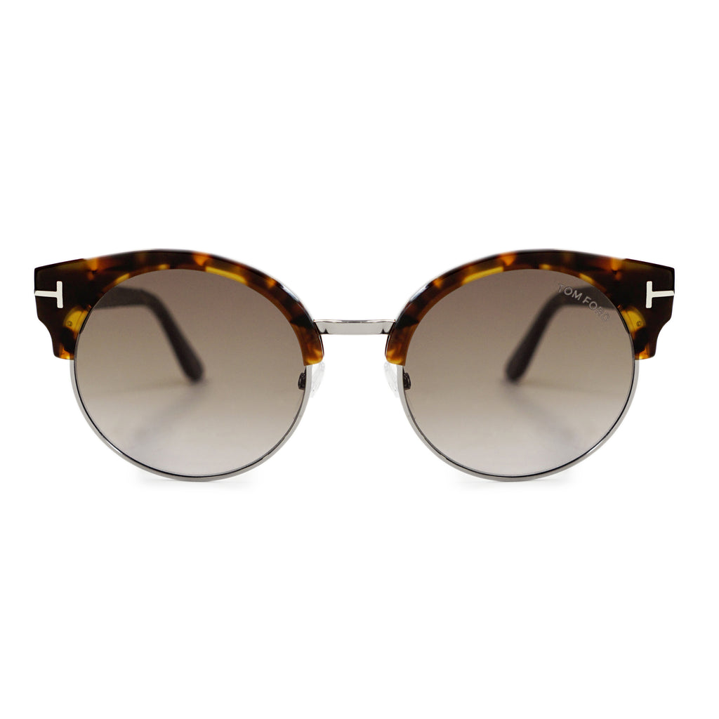 Tom Ford Alissa-02 Vintage Havana Round Sunglasses FT0608 55Z