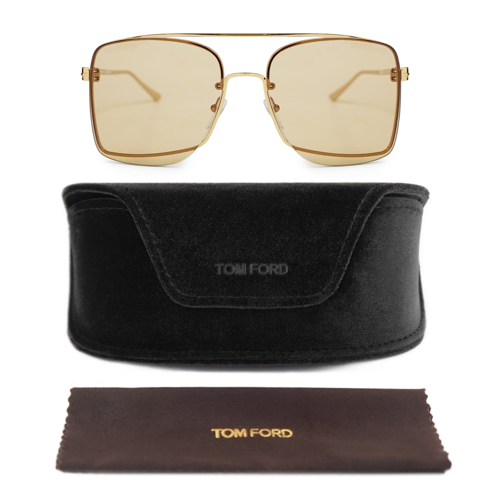 Tom Ford Penn Gold Pilot Sunglasses FT0655 28E