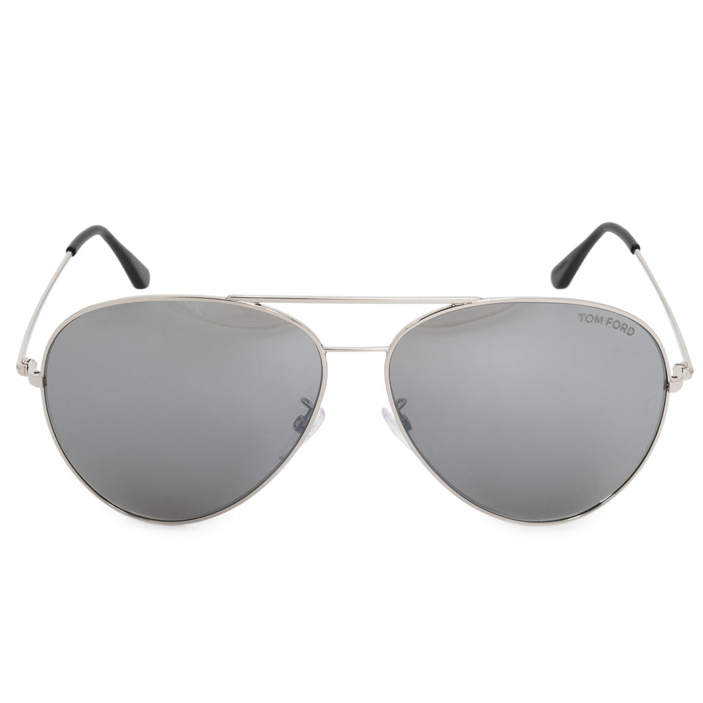 Tom Ford Aviator Sunglasses FT9311 16C 64 | Silver Metal Frames | Grey Lenses