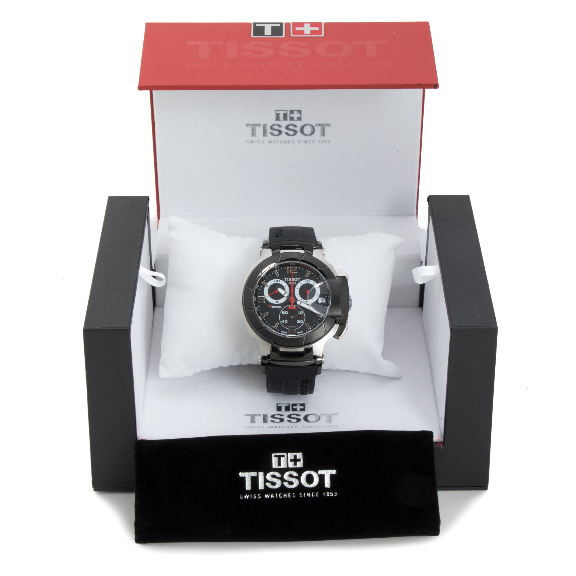 Tissot T-Race Chronograph Black Dial Men's Watch w/ Gold