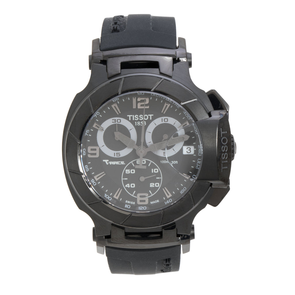 Tissot T-Race Chronograph Black Dial Men's Watch w/Black