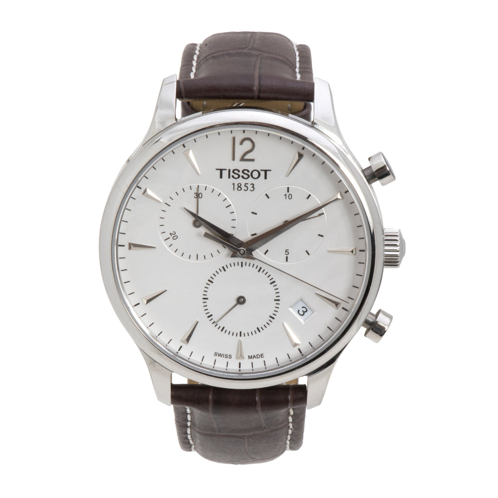 Tissot Tradition Chronograph Stainless Steel White Dial Men's Watch