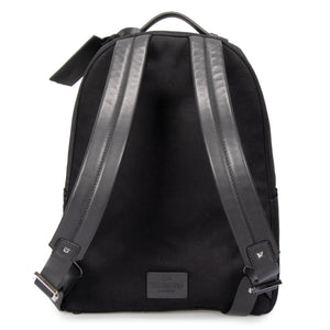 Valentino Black Fabric Backpack with Logo Applique