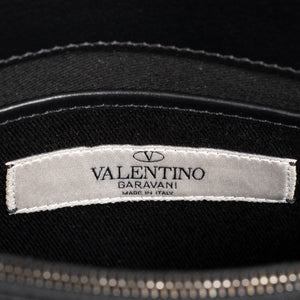 Valentino Black Leather Rock Stud Clutch