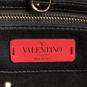 Valentino Small Demilune Double Handle Bag in Black