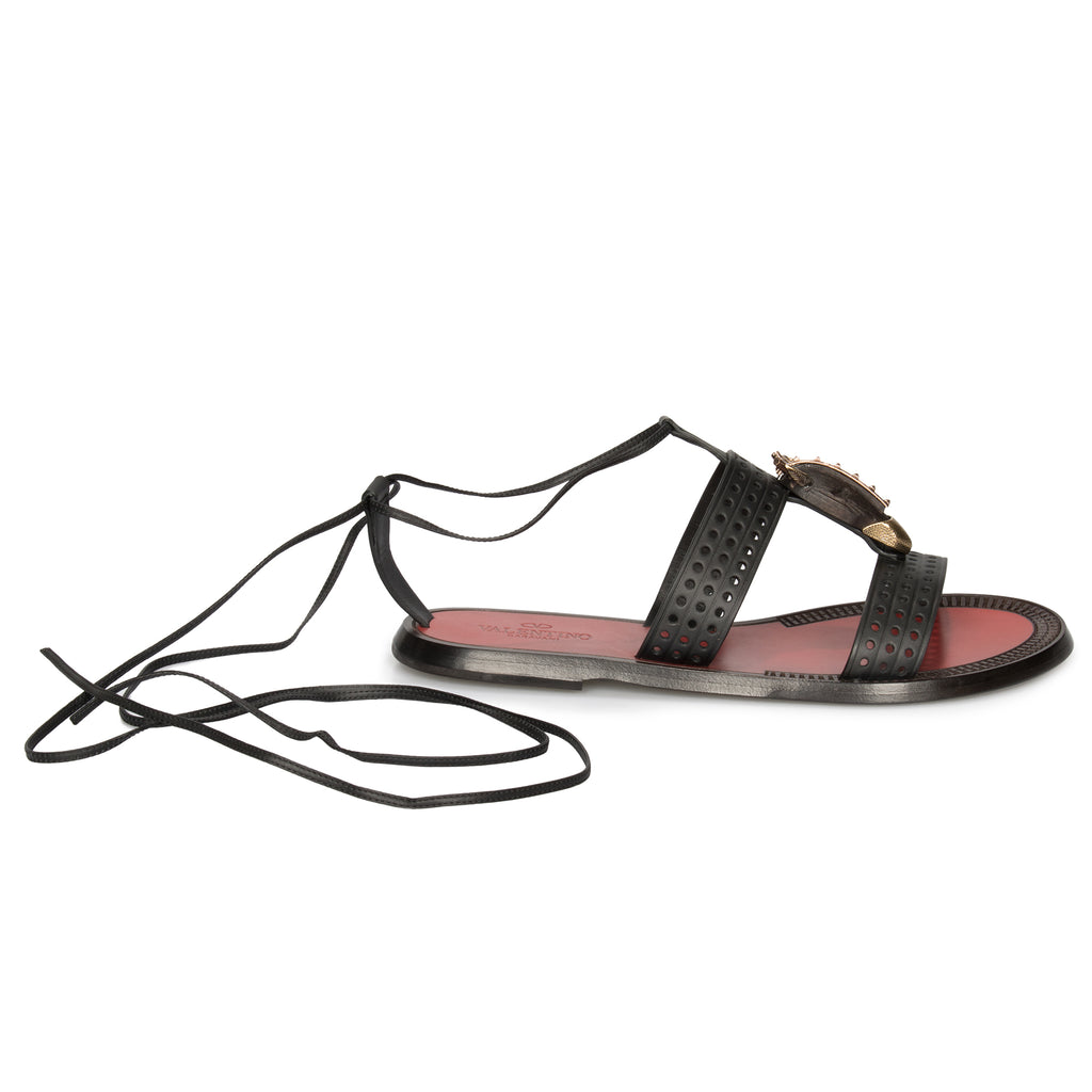 Valentino Vok Sandals in Black