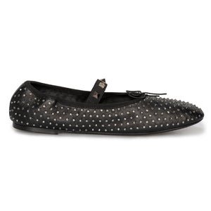 Valentino Rockstud Ballerina Flat Shoes in Black