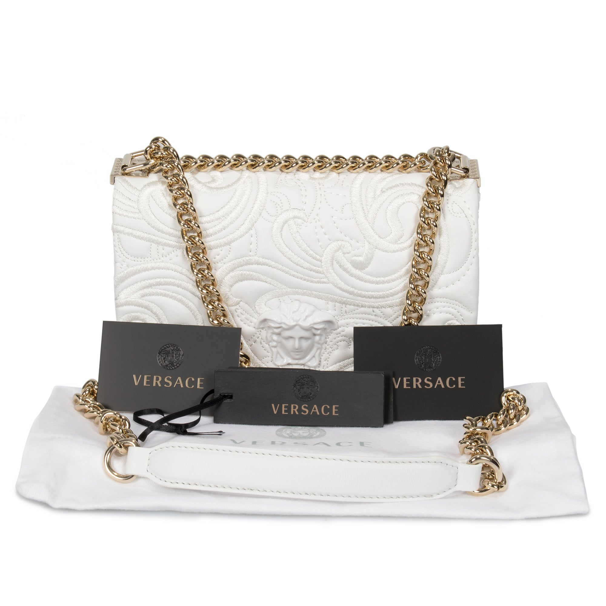Versace Embroidered Baroque Palazzo Bag