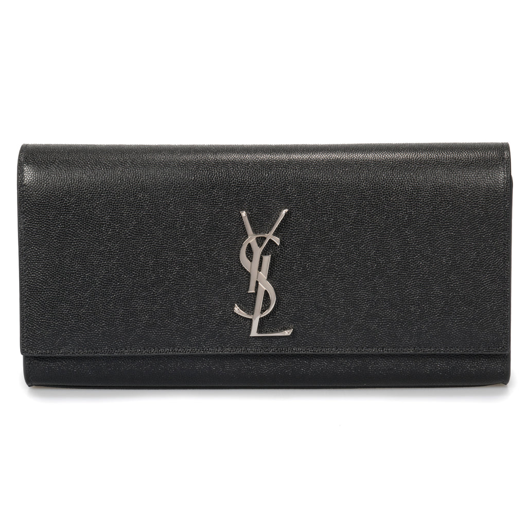 Saint Laurent Classic Kate Grain De Poudre Textured Leather Clutch