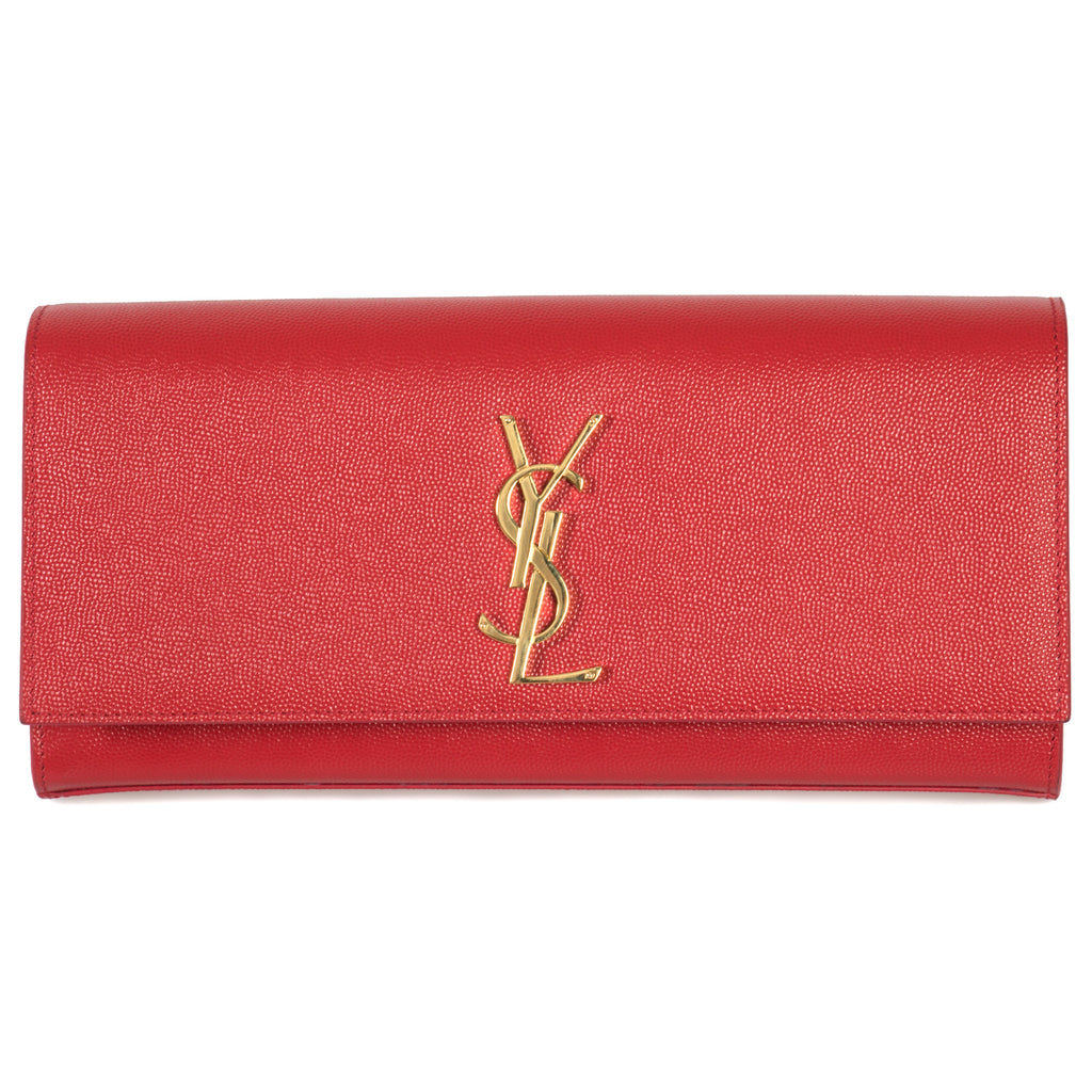 Saint Laurent Classic Kate Textured Leather Clutch