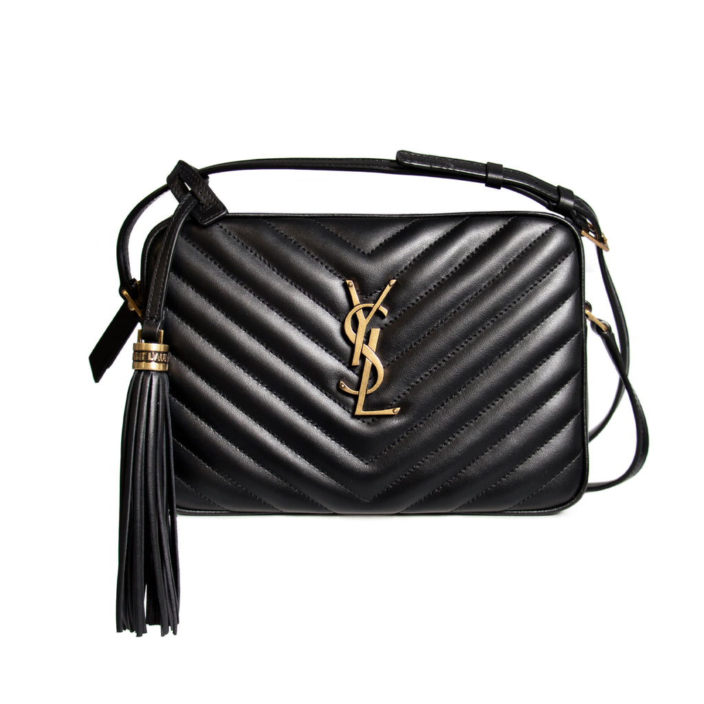 Saint Laurent Lou Camera Bag Shoulder Bag in Quilted Leather