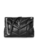 Saint Laurent Loulou Puffer Medium Shoulder Bag Bag in Quilted Lambskin