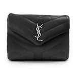 "Saint Laurent Loulou Toy Bag in Quilted ""Y"" Leather in Matt Black"