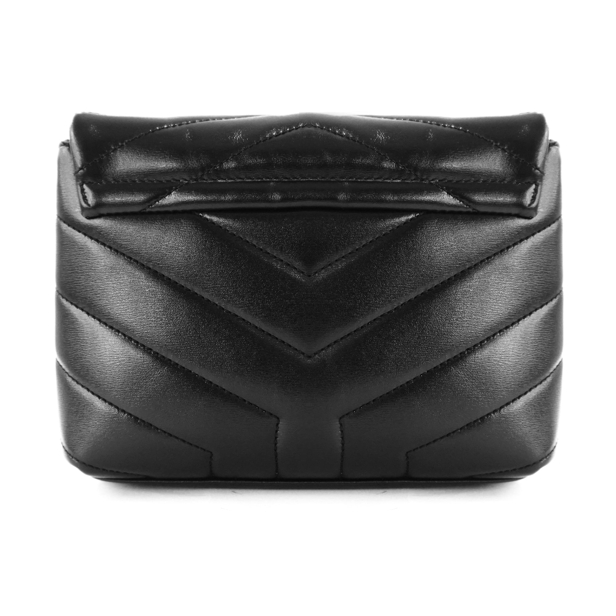 "Saint Laurent Loulou Toy Bag in Quilted ""Y"" Leather in Black"