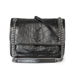 Saint Laurent Niki Medium In Crinkled Vintage Leather Shoulder Bag