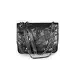 Saint Laurent Niki Baby in Crinkled Vintage Leather Shoulder Bag