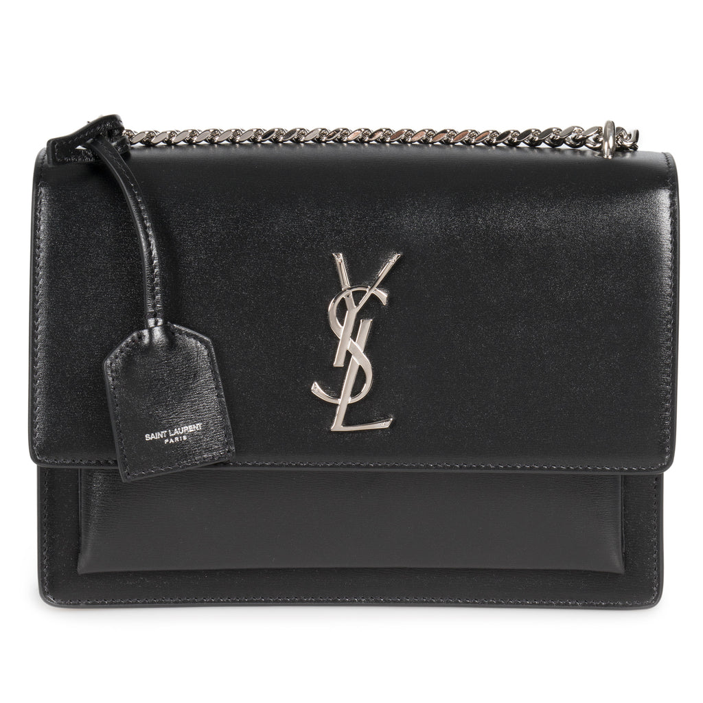 Saint Laurent Saint Laurent Medium Black Sunset Monogram Shoulder Bag