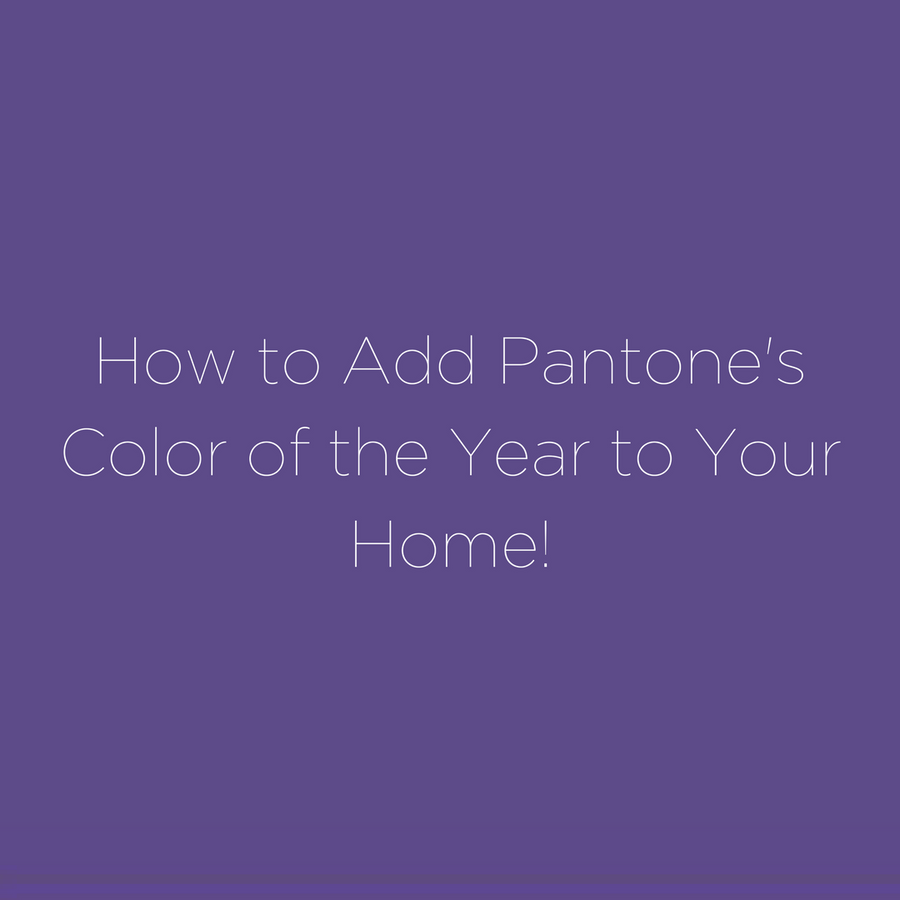 How to Add Pantone's Color of the Year to Your Home!