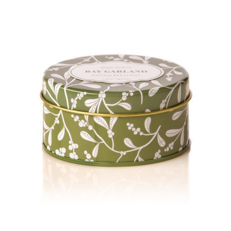 Rosy Rings Bay Garland Travel Tin Candle
