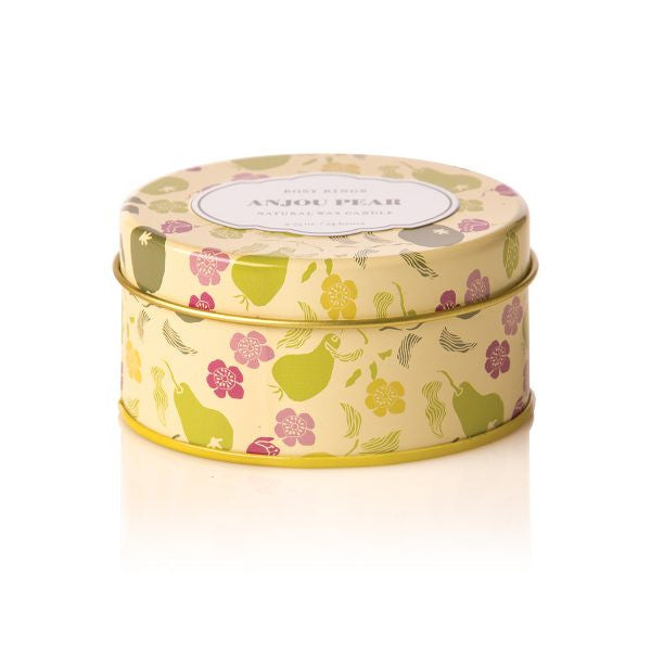Rosy Rings Anjou Pear Travel Tin
