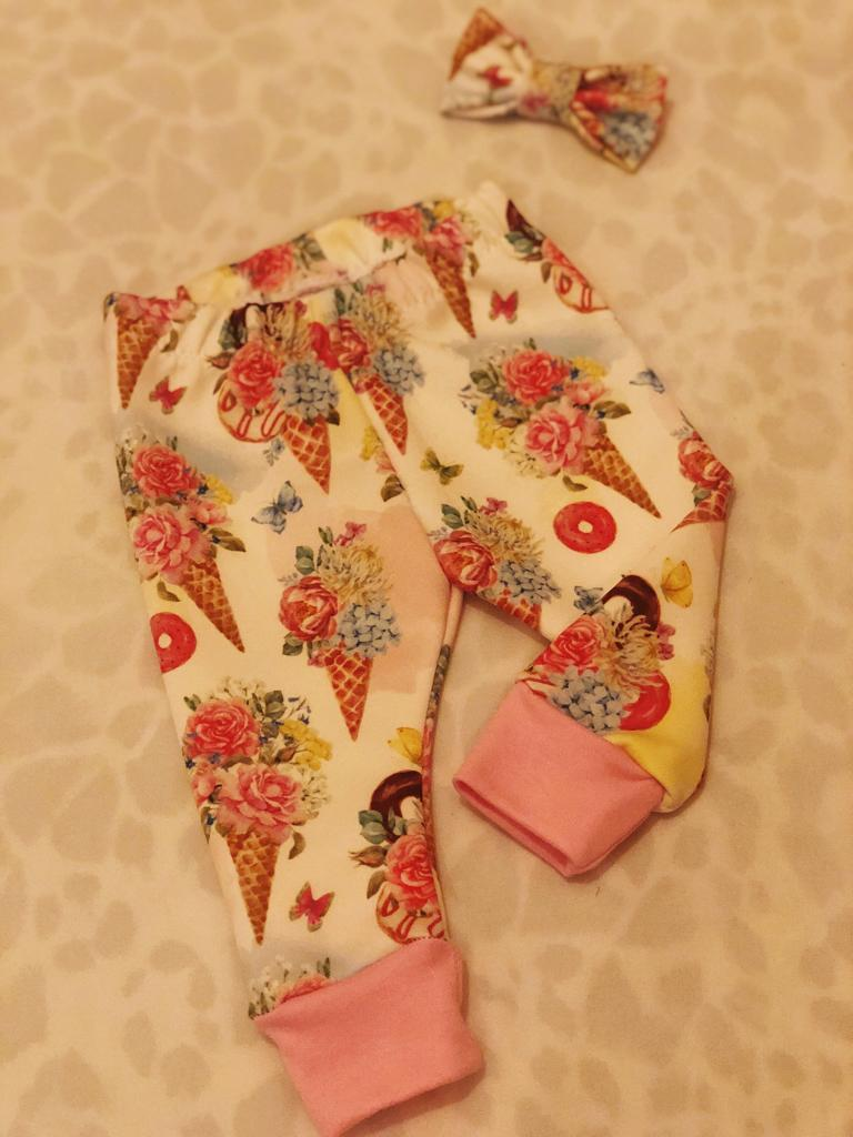 Floral Ice Cream Leggings