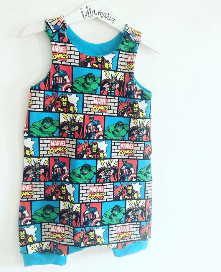 Marvel Short Dungaree Romper