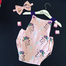 Unicorn & Rainbow Summer Romper
